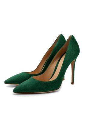 Женские замшевые туфли gianvito 105 GIANVITO ROSSI зеленого цвета, арт. G28470.15RIC.CAMLEAF | Фото 1