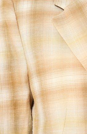 Жакет с накладными карманами из смеси шерсти и льна с шелком Aalto бежевый   Фото №5