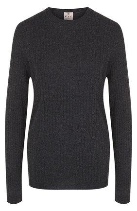 Женский однотонный кашемировый пуловер фактурной вязки FTC темно-серого цвета, арт. 707-1100 | Фото 1