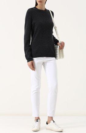 Женский однотонный кашемировый пуловер фактурной вязки FTC темно-серого цвета, арт. 707-1100 | Фото 2