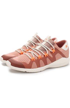 Текстильные кроссовки CrazyTrain Pro на шнуровке adidas by Stella McCartney розовые | Фото №1