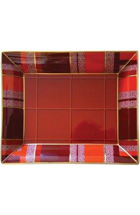 Мужского мелочница tartan BERNARDAUD красного цвета, арт. 1759/4511 | Фото 1