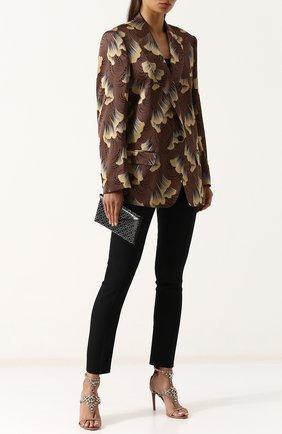 Клатч из кожи с заклепками Alaia черного цвета | Фото №1