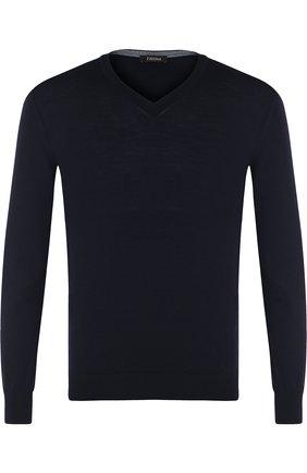 Пуловер из шерсти тонкой вязки | Фото №1