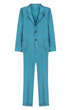 Шелковый костюм из брюк и пиджака | Фото №1