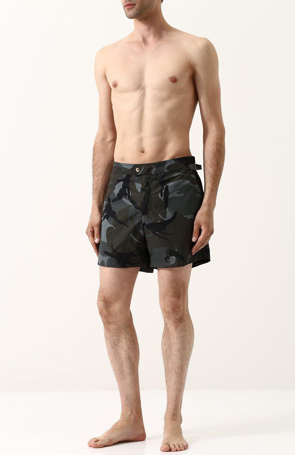 Плавки-шорты с камуфляжным принтом | Фото №2