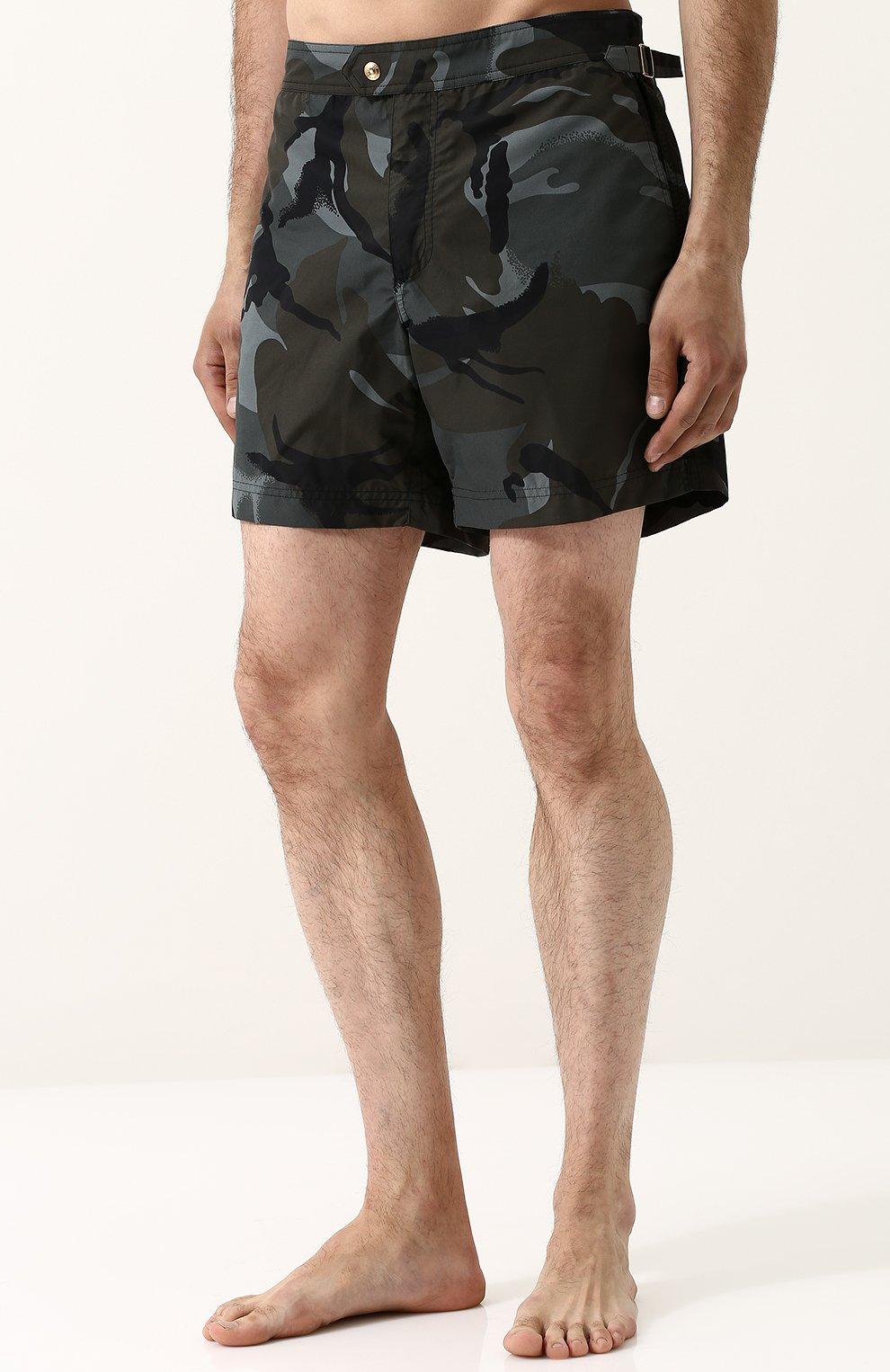 Плавки-шорты с камуфляжным принтом | Фото №3