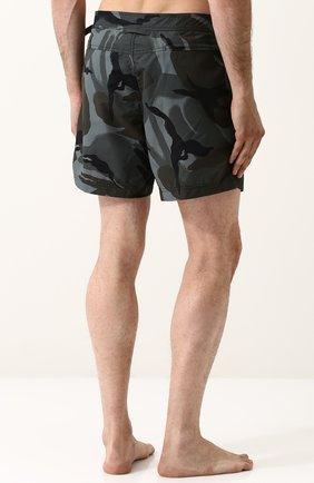 Плавки-шорты с камуфляжным принтом | Фото №4