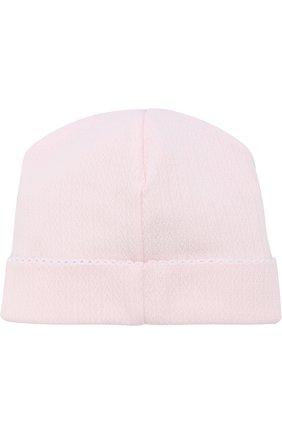 Хлопковая шапка Kissy Kissy розового цвета | Фото №1