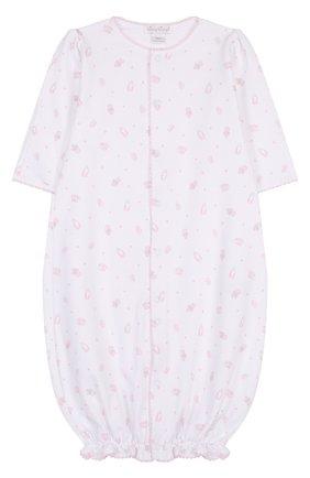 Хлопковая пижама на кнопках с принтом | Фото №1