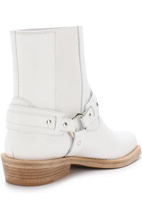 Женские кожаные ботинки с ремешками PACO RABANNE белого цвета, арт. 18PM0T0B03CAAFL | Фото 4
