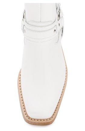 Женские кожаные ботинки с ремешками PACO RABANNE белого цвета, арт. 18PM0T0B03CAAFL | Фото 5
