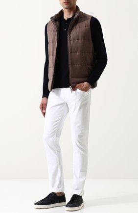 Мужское шерстяное поло с длинными рукавами ISAIA темно-синего цвета, арт. MG7050/YP005 | Фото 2