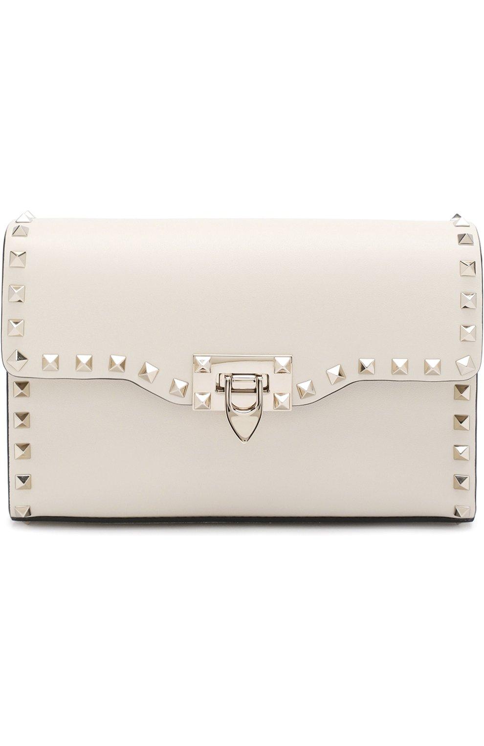 Женская сумка valentino garavani rockstud spike medium VALENTINO белого цвета, арт. PW0B0181/WCI   Фото 1