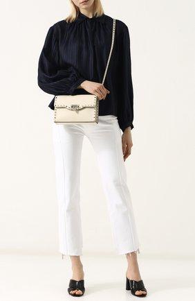 Женская сумка valentino garavani rockstud spike medium VALENTINO белого цвета, арт. PW0B0181/WCI   Фото 2