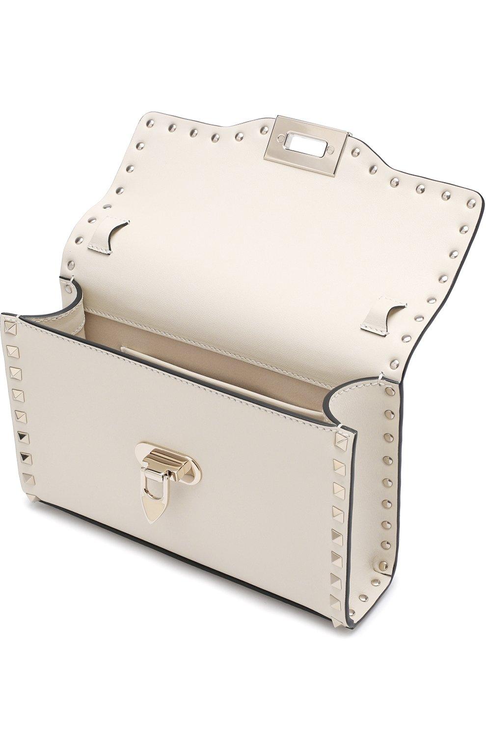 Женская сумка valentino garavani rockstud spike medium VALENTINO белого цвета, арт. PW0B0181/WCI   Фото 4