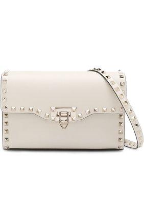 Женская сумка valentino garavani rockstud spike medium VALENTINO белого цвета, арт. PW0B0181/WCI   Фото 5