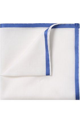 Хлопковый платок с контрастным кантом    Фото №1
