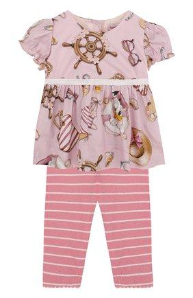 Хлопковый комплект из блузы и леггинсов | Фото №1
