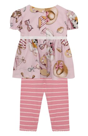 Хлопковый комплект из блузы и леггинсов   Фото №2