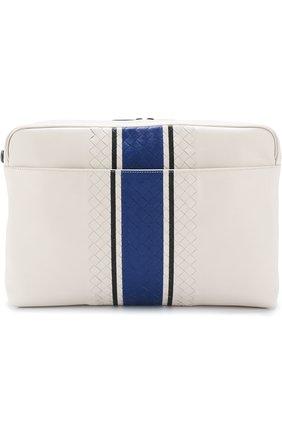 Кожаная сумка для документов с плетением Intrecciato | Фото №1