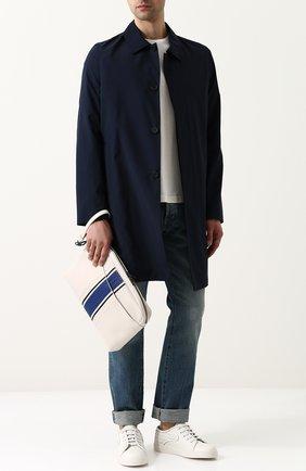 Кожаная сумка для документов с плетением Intrecciato  | Фото №2