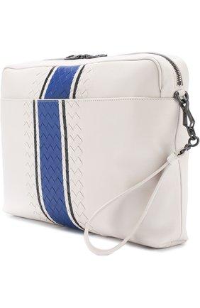 Кожаная сумка для документов с плетением Intrecciato  | Фото №3