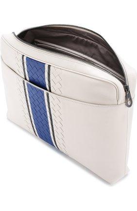 Кожаная сумка для документов с плетением Intrecciato  | Фото №4
