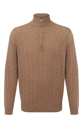 Мужской кашемировый свитер LORO PIANA бежевого цвета, арт. FAD7358 | Фото 1