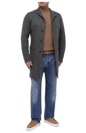 Мужской кашемировый свитер LORO PIANA бежевого цвета, арт. FAD7358 | Фото 2