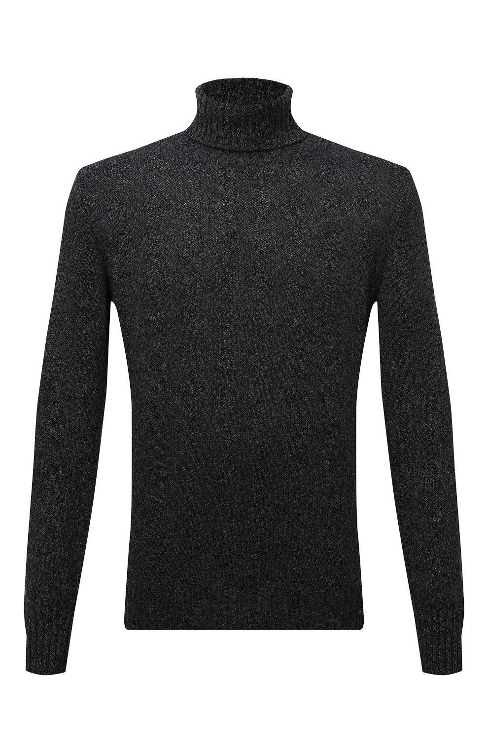 Мужской кашемировый свитер LORO PIANA темно-серого цвета, арт. FAG3513   Фото 1