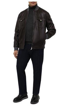 Мужской кашемировый свитер LORO PIANA темно-серого цвета, арт. FAG3513   Фото 2