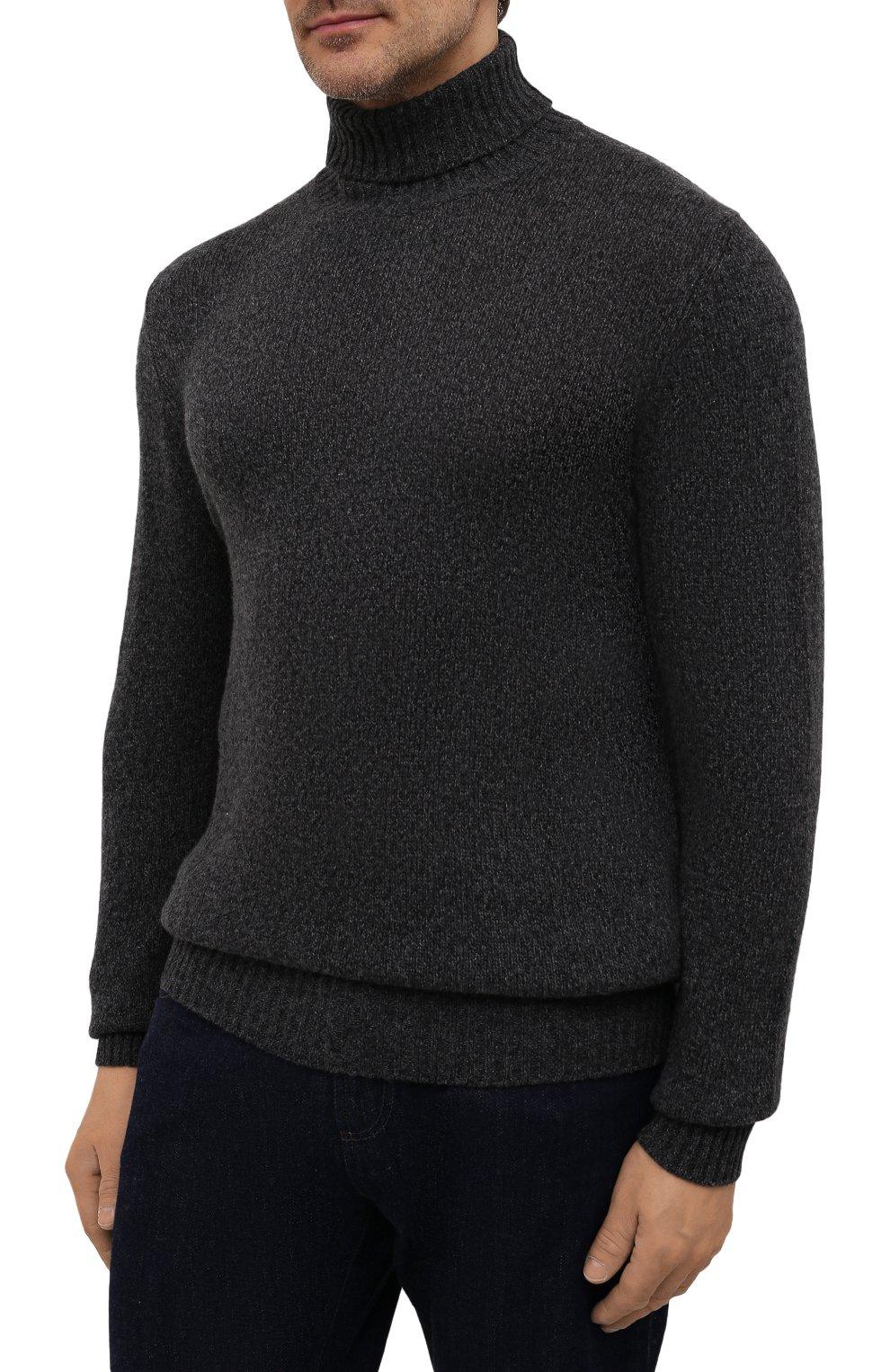 Мужской кашемировый свитер LORO PIANA темно-серого цвета, арт. FAG3513   Фото 3