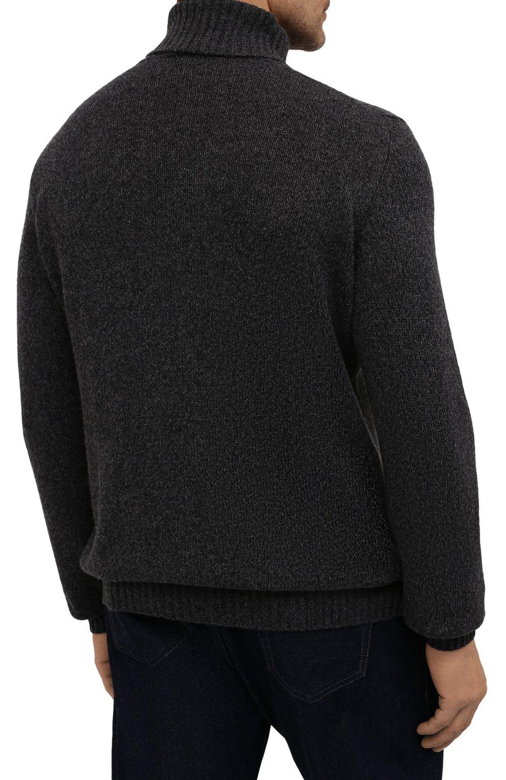 Мужской кашемировый свитер LORO PIANA темно-серого цвета, арт. FAG3513   Фото 4