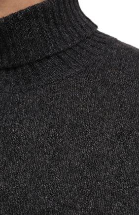 Мужской кашемировый свитер LORO PIANA темно-серого цвета, арт. FAG3513   Фото 5