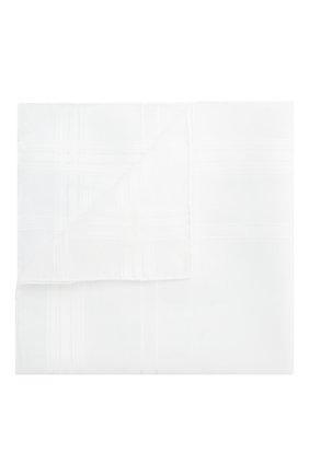 Мужской хлопковый платок SIMONNOT-GODARD белого цвета, арт. RENAISSANCE | Фото 1