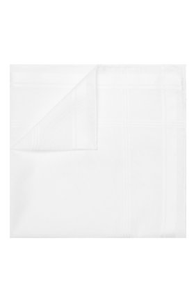 Мужской хлопковый платок SIMONNOT-GODARD белого цвета, арт. SARABANDE | Фото 1