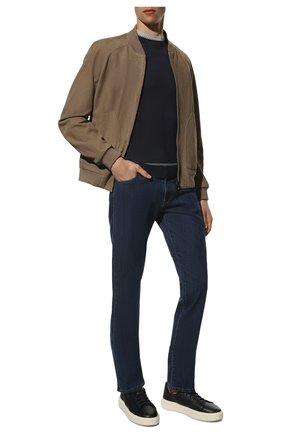Мужские джинсы CANALI синего цвета, арт. 91700/PD00018 | Фото 2