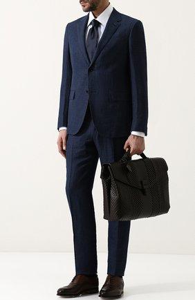 Кожаный портфель с плетением Imperatore  | Фото №2