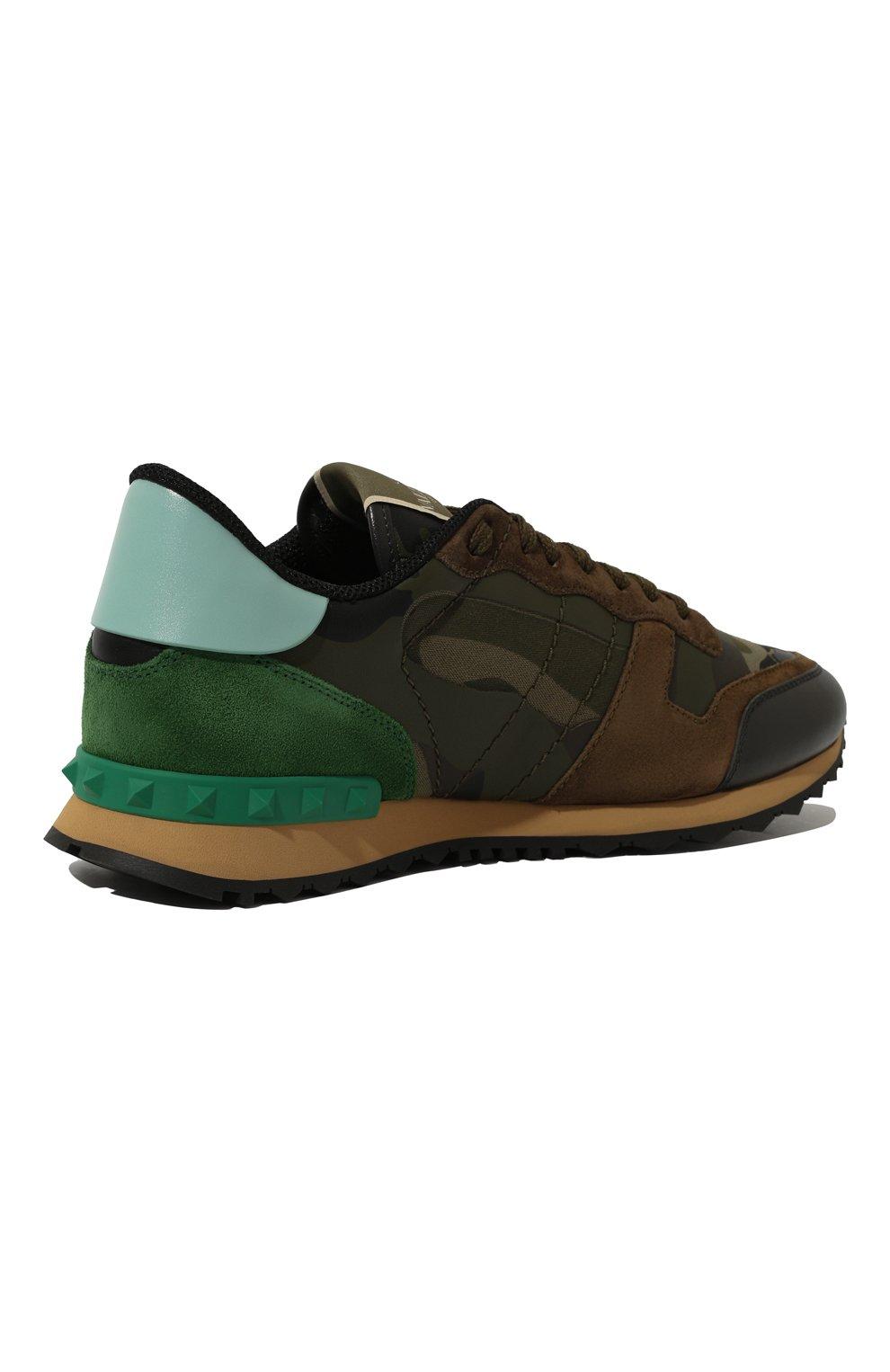 Комбинированные кроссовки Valentino Garavani Rockrunner на шнуровке   Фото  №5 6d1f91002c3