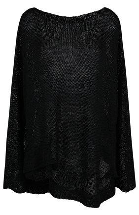 Вязаный шелковый пуловер свободного кроя | Фото №1