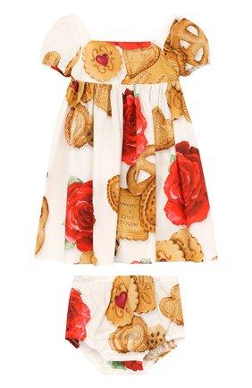 Хлопковый комплект из платья и трусов   Фото №1