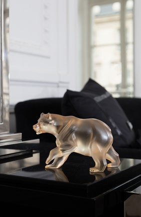 Мужского скульптура bear LALIQUE золотого цвета, арт. 10641200 | Фото 2