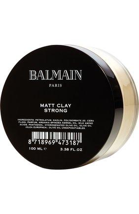 Женского матирующая глина для укладки сильной фиксации BALMAIN HAIR COUTURE бесцветного цвета, арт. 8718969473187 | Фото 1