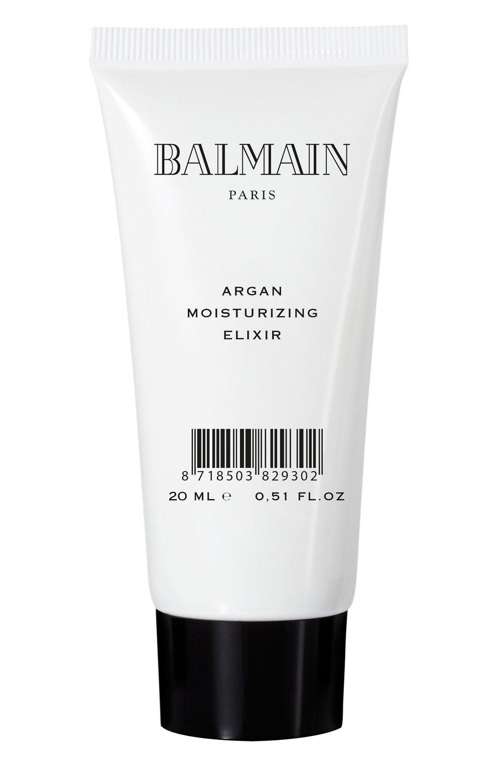 Увлажняющий эликсир с аргановым маслом дорожный вариант (20ml) BALMAIN HAIR COUTURE бесцветного цвета, арт. 8718503829302 | Фото 1 (Статус проверки: Проверена категория)