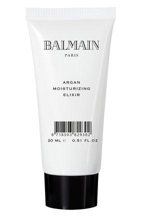Женского увлажняющий эликсир с аргановым маслом дорожный вариант BALMAIN HAIR COUTURE бесцветного цвета, арт. 8718503829302 | Фото 1