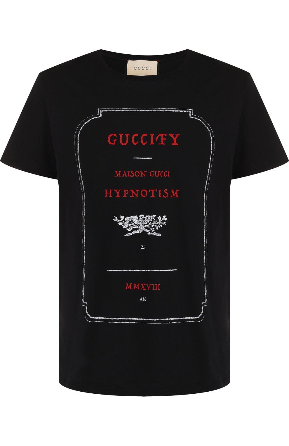 3b2081422fed Мужские футболки Gucci по цене от 23 000 руб. купить в интернет-магазине ЦУМ