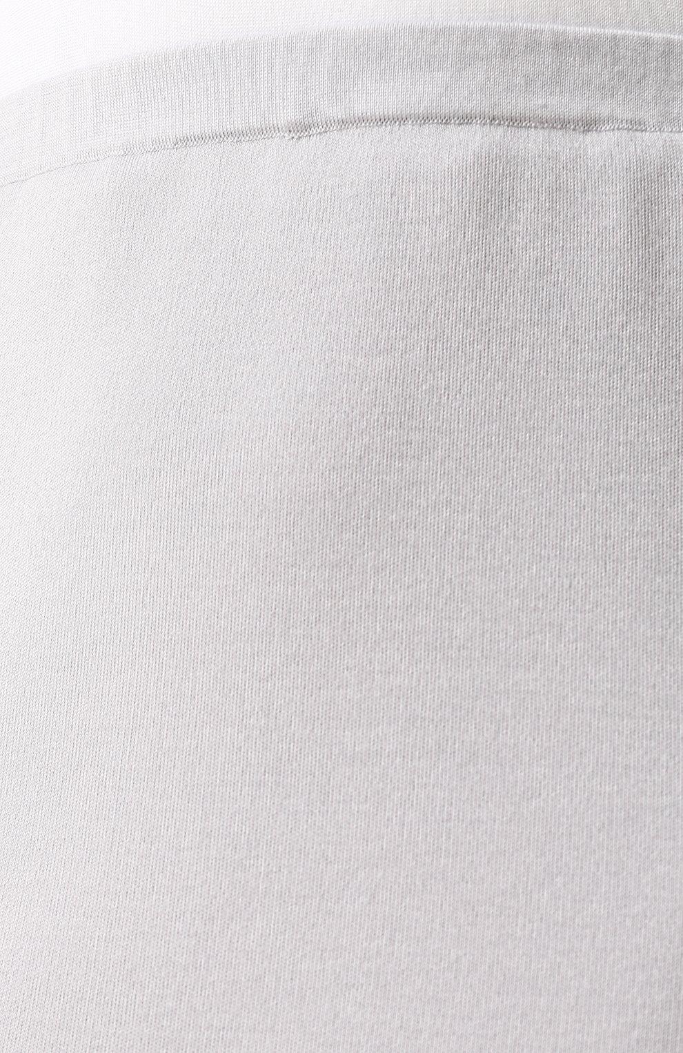 Женская однотонная юбка-миди из смеси шелка и кашемира TSE светло-серого цвета, арт. TWK318S18B   Фото 5