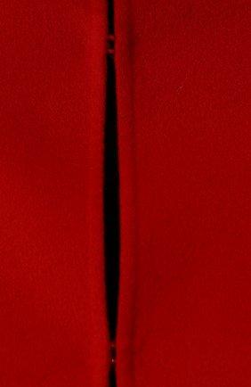 Однотонная шерстяная накидка с оборками   Фото №5