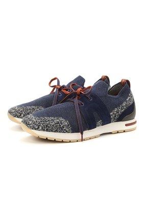 Женские комбинированные кроссовки 360 lp walk LORO PIANA синего цвета, арт. FAI1590 | Фото 1 (Подошва: Платформа; Материал внешний: Текстиль; Материал внутренний: Текстиль, Натуральная кожа)